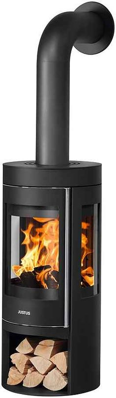 JUSTUS Kaminofen »Mino trios 2.0«, Stahl, 5,5 kW, Vermiculite online kaufen   OTTO Stove Installation, Home Appliances, Wood, Products, Pipes, Steel, House Appliances, Woodwind Instrument, Timber Wood