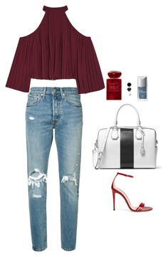 """""""Untitled #531"""" by hayleyl22 ❤ liked on Polyvore featuring Levi's, Gucci, W118 by Walter Baker, MICHAEL Michael Kors, Christian Dior and Giorgio Armani"""