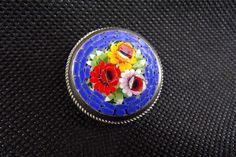 broche micro mosaïque vintage Italy / broche fantaisie / vintage italie / design italy / bijoux fantaisie / cadeaux pour elle / love gifts de la boutique decobrock sur Etsy