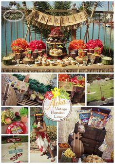 Aloha! Vintage Hawaiian Luau party ideas ~ Lynlee's