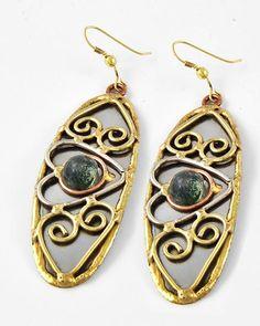 FG517 - Natural Stone Artisan Earrings - Peyton