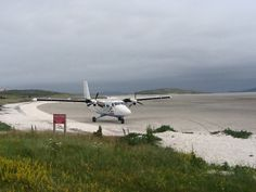 Barra airport on a cockleshell beach at low tide, been there done that :)