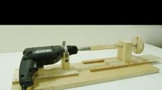 If you want to turn wood to make spindles or decorative chair legs, you're going to need a lathe. Rather than spending a fortune on expensive hardware, you can put an old drill to good use instead.