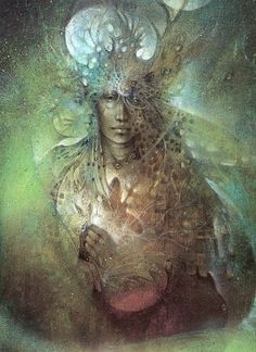 by Susan Seddon Boulet. So many faces surround me. There's only one I can trust.