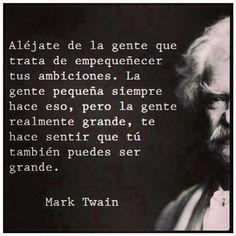 Fantastica frase de Mark Twain. #frases #inspiracion…