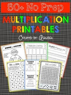 All you have to do is print, and you& ready to go! These multiplication printables are a great way to supplement your existing math curriculum. The packet includes representing multiplication, multiplication facts, and much more! Math For Kids, Fun Math, Maths, Math Skills, Math Lessons, Math Resources, Math Activities, Math Facts, Multiplication Facts