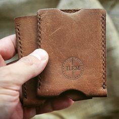 New leather card holder! Ideal for business cards and credit cards.