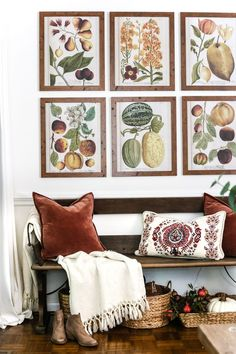 8 Fall Decorating Tips on a Budget + Fall Home Tour 2017 | blesserhouse.com - 8 fall decorating tips for a small budget with ways to shop smart in clearance aisles and thrift stores + a full autumn home tour. Fall entryway gallery wall printables #freeprintables #gallerywall