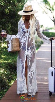 34 modern beachwear ideas for your summer vacation - all about women - 34 Modern beachwear ideas for your summer vacation - Trendy Outfits, Cool Outfits, Summer Outfits, Modest Outfits, Bohemian Bikini, Pool Party Outfits, Estilo Cool, Boho Fashion, Fashion Outfits
