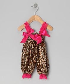 Take a look at this Hot Pink Cheetah Bubble Romper  - Infant by Diva Daze on #zulily today!