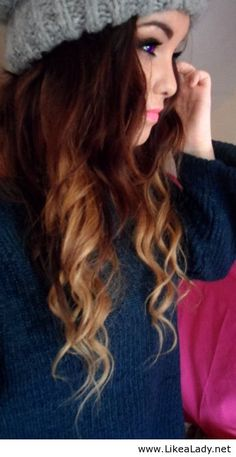 Ombre hair curls are so beautiful arghh!