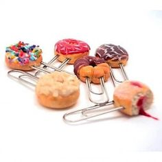 Buy Quirky Paper Clips, USB Drives, Polymer Clay Stationery by Small Idea Online in India Usb Drive, All Brands, Donuts, Polymer Clay, Stationery, Paper, Stuff To Buy, Products, Frost Donuts