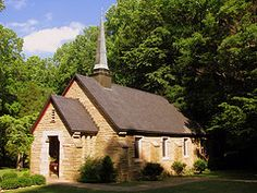 Montgomery Bell State Park Chapel....this is where I want to get married. My parents got married here.