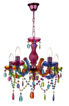 Rainbow colored gypsy chandelier large by urban outfitters the multi coloured glass 5 light chandelier does anyone know where i can buy these or similar in australia aloadofball Image collections
