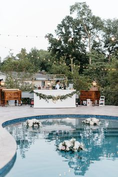 Floating Pool Decorations, Pool Wedding Decorations, Wedding Reception Centerpieces, Quinceanera Centerpieces, Table Centerpieces, Backyard Wedding Pool, Backyard Engagement Parties, Intimate Wedding Reception, Wedding Bride