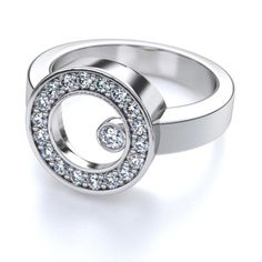 Next Day Shipping. woohoo!.32ctw Circle of Love Round Diamond Fashion Ring in 18kt White Gold SI H-I