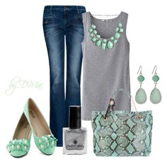 Minty by dmac30 on Polyvore featuring Uniqlo, MANGO, Lanvin, Arden B., Pieces and Angelo