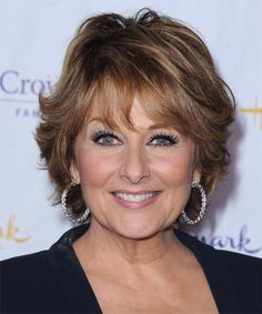 Hairstyles for Women Over 60   Cristina Ferrare Hairstyle - Formal Short Straight - 15432 ...