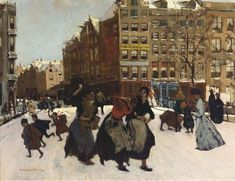 George Hendrik Breitner - Brug bij de Paleisstraat; winter in Amsterdam