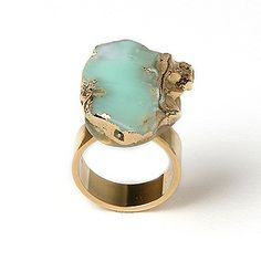 Chrysophase Ring Sold on Mali Sabatasso website, plus other chrysophase, and turquoise jewelry.