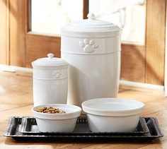 Cambria Pet Bowls, Food and Treat containers - Pottery Barn