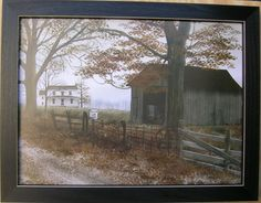 Billy Jacobs Old Country Road 12 x16 Framed Primitive Country Picture Print Art | eBay