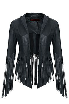 I love the FRINGED LEATHER JACKET from the Kate Moss for Topshop collection at Nordstrom.
