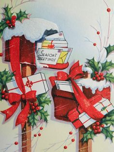 bulging boxes find this pin and more on christmas vintage gifts - Vintage Christmas Gifts