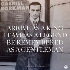 Gentleman Quote by Ato C. Yankah jr @Adnan Taletovic  Picture by Karl Lagerfeld   www.gentlemans-essentials.com