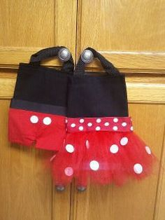 Minnie and Mickey bags