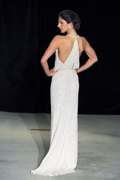This slinky silhouette. | 39 Wedding Dresses That Stun From 360°