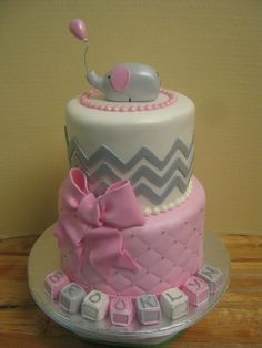 pink grey white baby shower - Google Search