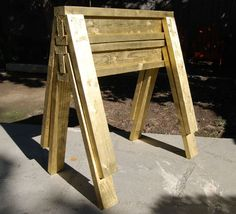 How To Build Diy Gold Sawhorses