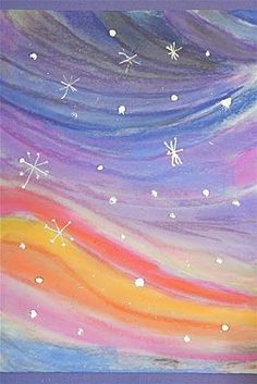 Chalk Pastel Winter Landscapes