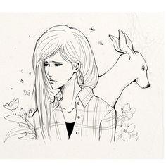 Rachel Amber and the doe.