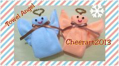 how to fold an angel from a washcloth