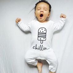 Just Chillin... in an outfit of Cribstar - shop bij minimonsters.be