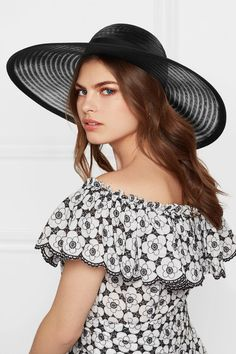 Eugenia Kim - Bunny grosgrain-trimmed mesh hat ae9e3009414a