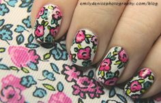 Very Emily » Espadrilles Floral Nails