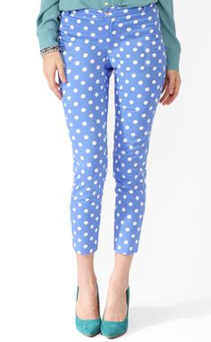 Forever 21 Polka Dot Ankle Pants from Pretty Polka Dot Fashion Must-Haves Inspired by Kate Middleton | E! Online