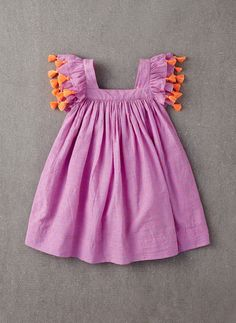 Nellystella Chloe Dress in Orchid Bouquet Swissdot