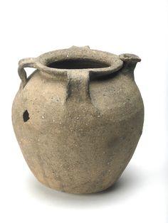 Grey ceramic pitcher: 10th-12th century