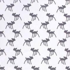 Tissu Jersey Bambi - blanc x 10 cm Bambi, Patterns, Fabric, Animal Print Style, Printed Cotton, Fabrics, Block Prints, Tejido, Tela