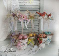 Купить Подарок на Пасху Птичка весна композиция к Пасхе с - Пасха, весна, птица, подарок, интерьер