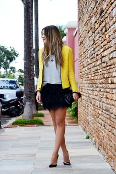 Me encantan las faldas de plumas!