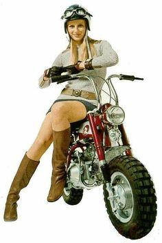 Honda Cycles, Honda Bikes, Lady Biker, Biker Girl, Honda S90, Honda Motors, Scooter Girl, Moto Bike, Honda Motorcycles