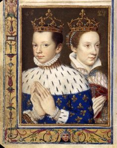 François II, Roi de France, et sa femme, Mary Stuart circa Wikimedia Commons French History, Tudor History, European History, British History, Ancient History, Mary Stuart, Mary Queen Of Scots, Queen Mary Tudor, Queen Elizabeth