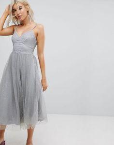 New Look Sparkle Mesh Midi Dress