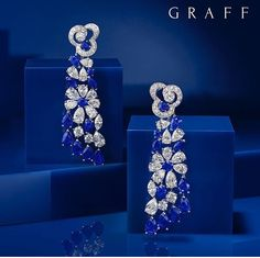 Scintillating Sapphires A pair of sapphire and diamond Nuage earrings featuring… Graff Jewelry, Diamond Jewelry, Lotus Jewelry, Stylish Jewelry, Fine Jewelry, Sapphire And Diamond Earrings, Diamond Gemstone, Traditional Earrings, Jewellery Sketches