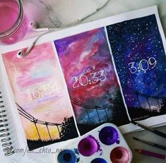 16 ideas for watercolor art journal texts Ideias Diy, Art Sketchbook, Painting & Drawing, Drawing Tips, Drawing Sky, Drawing Ideas, Cool Drawings, Music Drawings, Art Sketches
